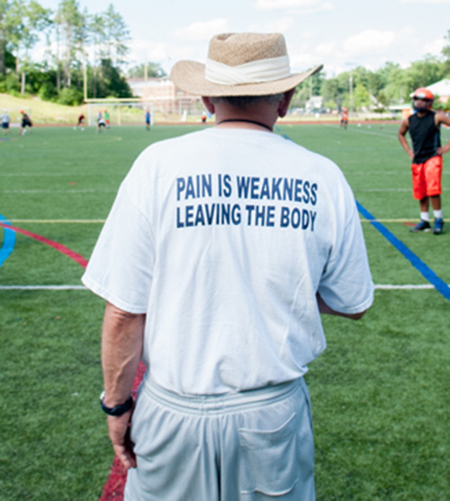coach barry greener pain is weakness leaving the body