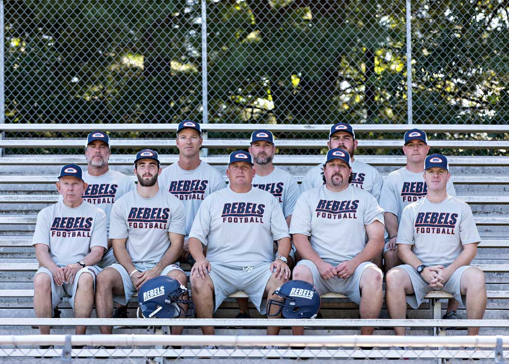 coahces walpole high school football rebels 2019