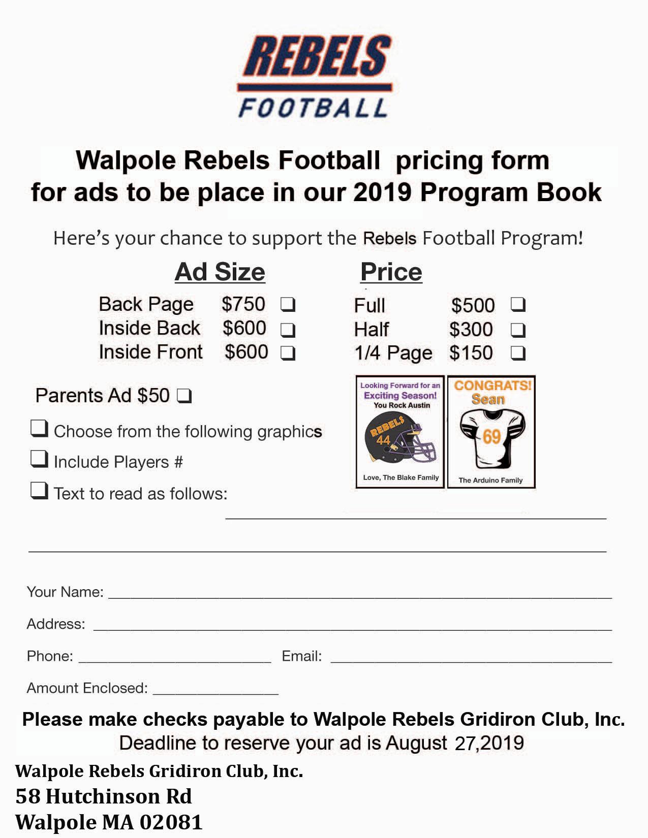 Rebel Program Flyer